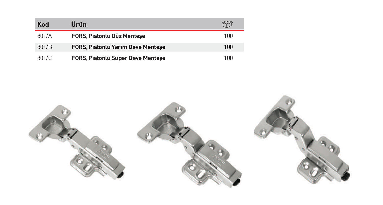 Hydraulic Concealed Hinges